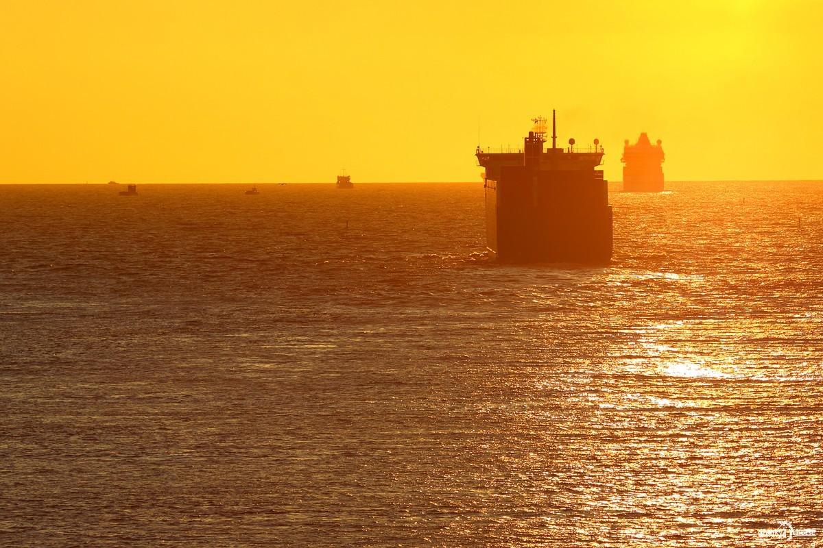 Эмиграция в плавь. Корабли на рейде