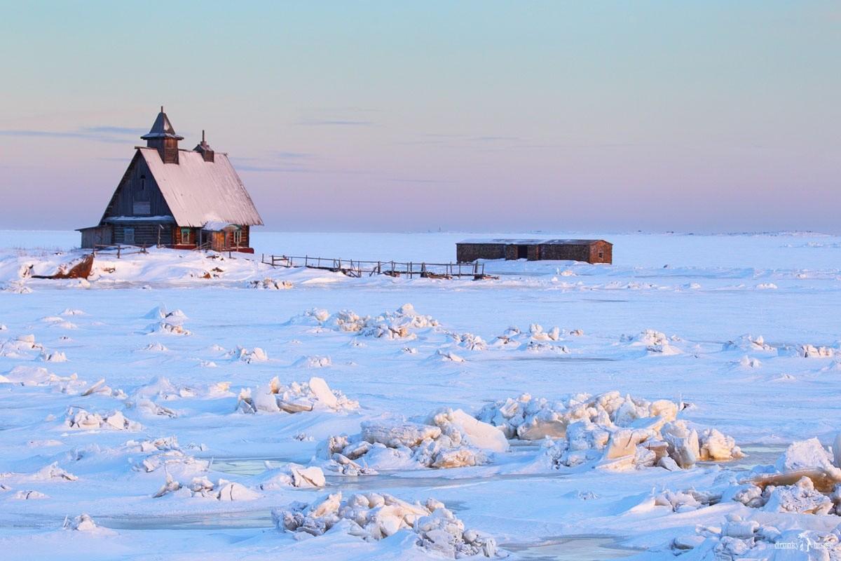 Автопутешествия по Карелии. Белое море зимой у Рабочеостровска. Кемь
